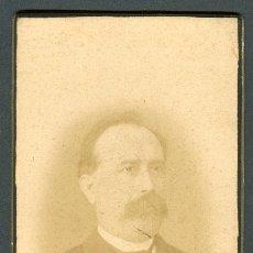 Fotografía antigua: CALATAYUD. CABALLERO CON BIGOTE. F: S. OÑATE. C. 1885. Lote 112715911