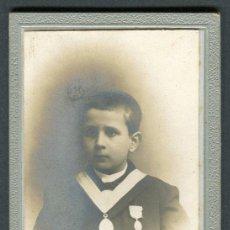 Photographie ancienne: ZARAGOZA. F: L. ESCOLA. NIÑO. C. 1895. Lote 112716119