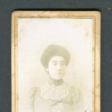 Fotografía antigua: ZARAGOZA. DAMA. MANOLITA. F: J. COYNE. C. 1890. Lote 112717147