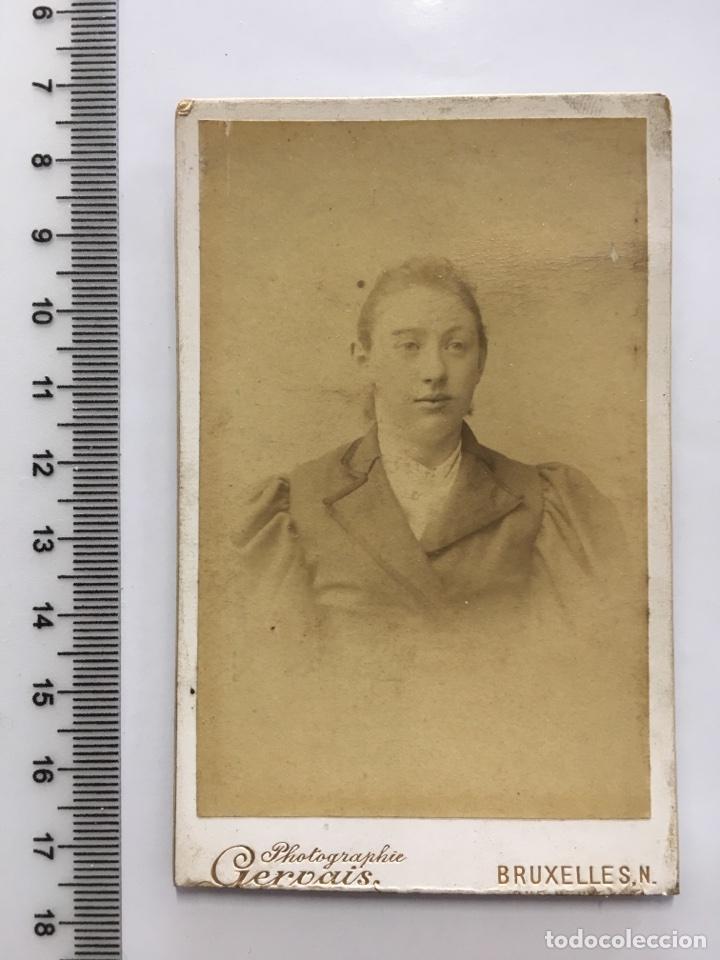 TARJETA ESTABL FOTOG GERVAIS BRUXELLES H 1900 Fotografia