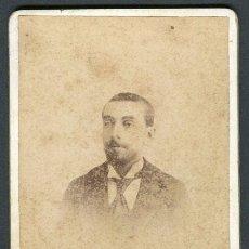 Fotografía antigua: CABALLERO. F: GALLIFA. BARBASTRO. C.1890. Lote 113160227
