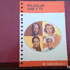 Fotografía antigua: AGFA -GEVAERT PELICULAS CINE TV. Lote 113336787