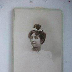 Fotografía antigua - CDV DE SEÑORITA FRANCESA , SIGLO XIX . FOTOGRAFO : MARIUS MARNAS , DUFOUR. - 113380143