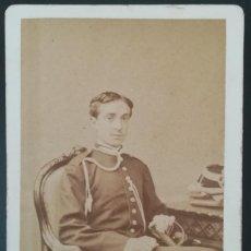 Fotografía antigua: CDV REY DE ESPAÑA ALFONSO XII FOT.: LE JEUNE CARTA DE VISITA MILITAR. Lote 114094307