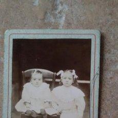 Fotografía antigua: CARTE DE VISITE.NIÑOS.. Lote 114280099