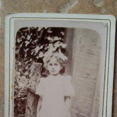 Fotografía antigua: CARTE DE VISITE.NIÑA.. Lote 114280220