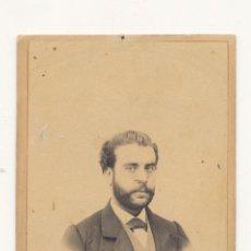 Fotografía antigua: SALVADOR FARACH ALICANTE SIGLO XIX FOTO DE ESTUDIO CDV CARTE DE VISITE. Lote 114487251