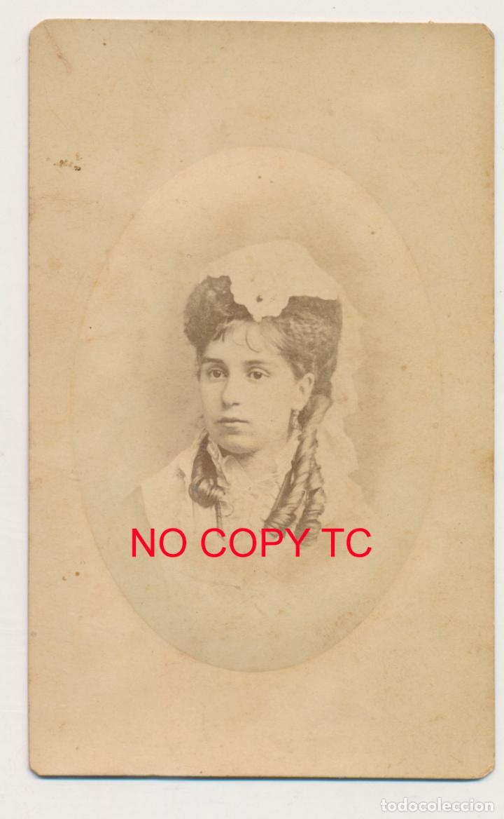 FOTOGRAFÍA CDV TARJETA DE VISITA ALICANTE DENIA VALENCIA FOTÓGRAFO TORRES (Fotografía Antigua - Cartes de Visite)