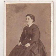 Fotografía antigua: ALBÚMIA FOTOGRAFÍA FOTOGRAFÍA DE JOAQUIN MASAGER GERONA. RETRATO SEÑORA.. Lote 115577411