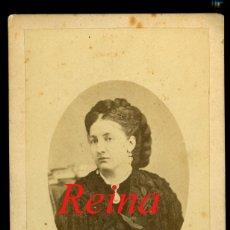 Fotografía antigua: REINA MARIA VICTORIA - 1870'S. Lote 115657499