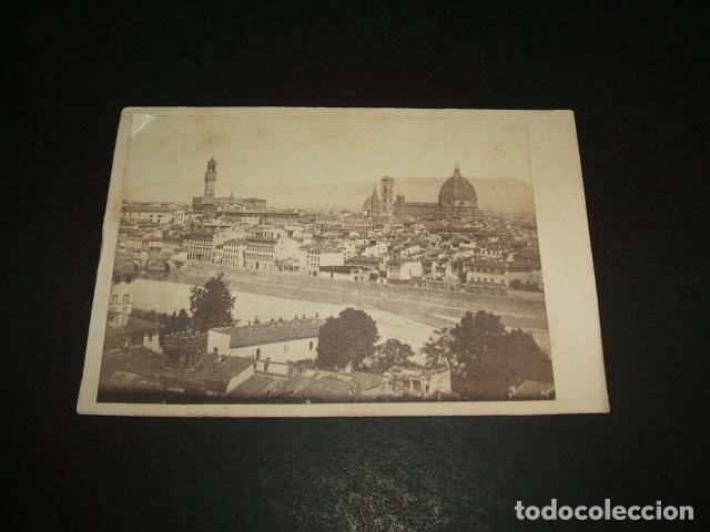 FLORENCIA ITALIA CARTE DE VISITE VISTA LA CIUDAD HACIA 1860 1870 Fotografia Antigua