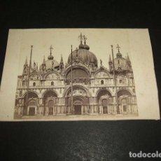 Fotografía antigua: VENECIA ITALIA CARTE DE VISITE VSAN MARCOS HACIA 1860-1870. Lote 116150995