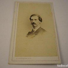 Fotografía antigua: FOTO CABALLERO A IDENTIFICAR . FREDERICKS & CIA . SIGLO XIX . 10 X 6 CM.. Lote 152828404