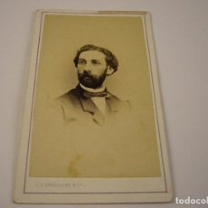 Fotografía antigua: FOTO CABALLERO A IDENTIFICAR . FREDERICKS & CIA . SIGLO XIX . 10 X 6 CM.. Lote 116459331