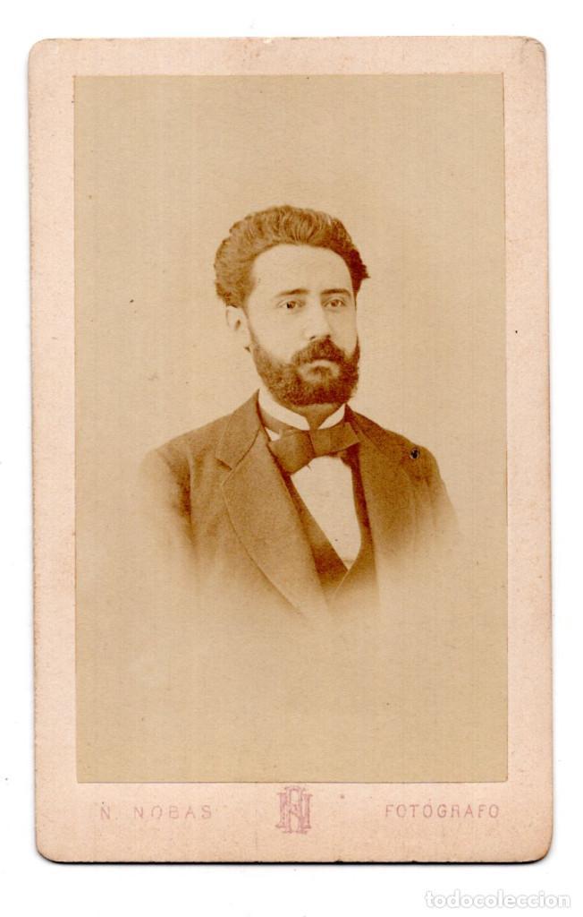 FOTOGRAFÍA CARTES DE VISITE S.XIX, ESTUDIO FOTOGRÁFICO NARCISO NOBAS - BARCELONA (Fotografía Antigua - Cartes de Visite)