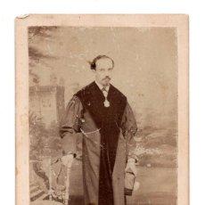 Fotografía antigua: CARTES DE VISITE - FISCAL , ESTUDIO FOTOGRÁFICO M. BORDOY. CORUÑA. Lote 116727687
