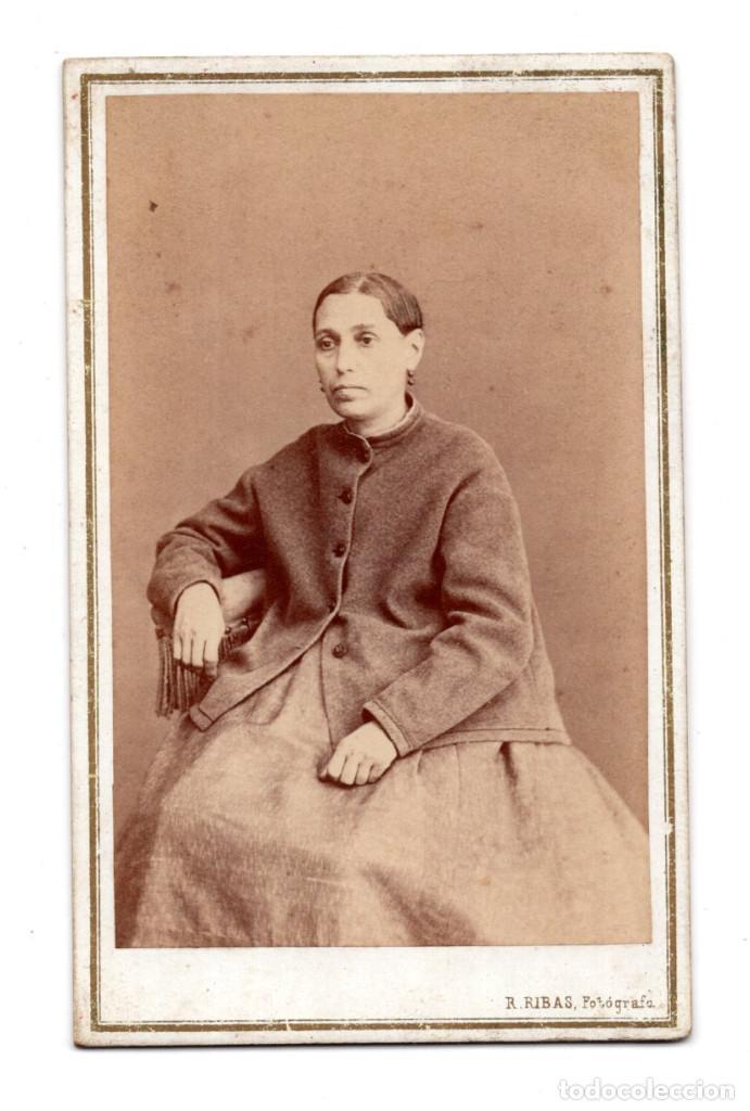 FOTOGRAFÍA CARTES DE VISITE S.XIX, ESTUDIO FOTOGRÁFICO ROMÁN RIBAS, PALMA MALLORCA (Fotografía Antigua - Cartes de Visite)
