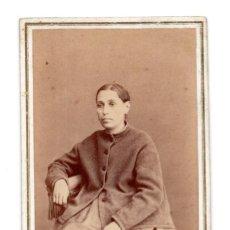 Fotografía antigua: FOTOGRAFÍA CARTES DE VISITE S.XIX, ESTUDIO FOTOGRÁFICO ROMÁN RIBAS, PALMA MALLORCA. Lote 116728359