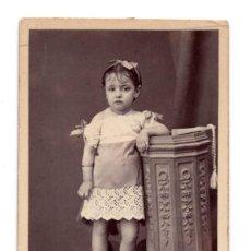 Fotografía antigua: CARTES DE VISITE. ESTUDIO FOTOGRÁFICO. HIGINIO MONTALVO. ÚBEDA. JAÉN. Lote 116867959