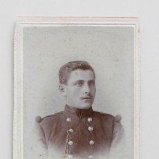 Fotografía antigua: CARTE DE VISITE DE SOLDADO BELGA. PHOTO EDOUARD MORREN FILS. Lote 116873679