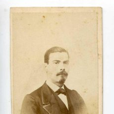 Fotografía antigua: FOTOGRAFÍA DE CABALLERO. Q. TOLEDO, FOTÓGRAFO. Nº 16 CALLE DE SEVILLA, MADRID. Lote 117512743