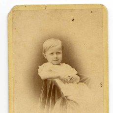 Fotografía antigua: FOTOGRAFÍA DE NIÑO. E. GARREAUD Y CA. RETRATISTAS VALPARAISO Y SANTIAGO DE CHILE. Lote 117516403
