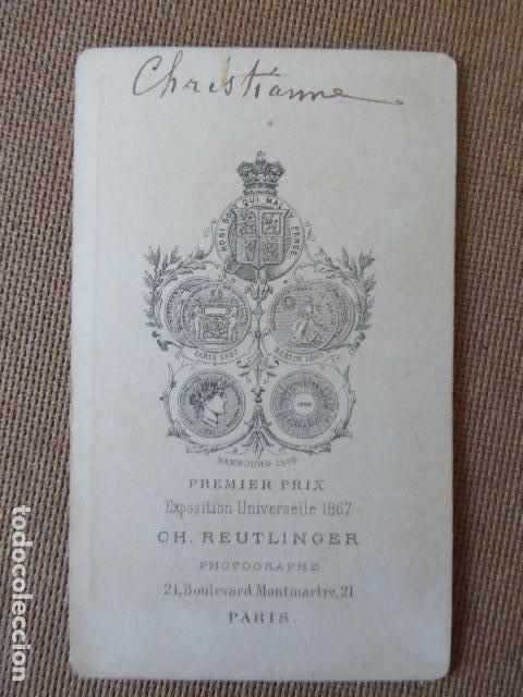 CARTE DE VISITE ALBUMINA PRINCESS CHRISTIAN CH