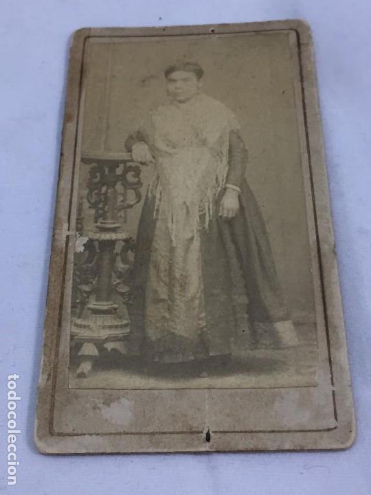 Fotografía antigua: CDV carta de visita Mujer filipina Colonial Mantón de Manila albúmina - Foto 4 - 118940347