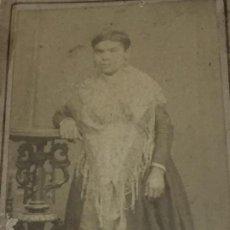 Fotografía antigua - CDV carta de visita Mujer filipina Colonial Mantón de Manila albúmina - 118940347