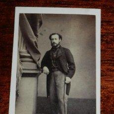 Fotografía antigua - FOTOGRAFIA CDV DE CABALLERO, FOTOGRAFO A. ALONSO MARTINEZ Y HERMANO de Madrid, 1870 APROXIMADAMENTE, - 120391615