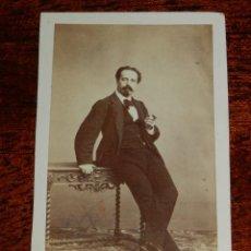 Fotografía antigua: FOTOGRAFIA CDV DE TIRSO DE OBREGON PIERRAD, BARITONO DE OPERA 1832-1889, FOTOGRAFO J. LAURENT DE MAD. Lote 120396015