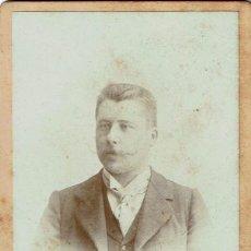 Fotografía antigua: FTO. RETRATO FRONTAL DE CABALLERO. CA. 1890-1895. FOTÓGRAFO.:JUAN MORENO. SAN SEBASTIÁN. . Lote 120479275