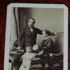 Fotografía antigua: FOTOGRAFIA CDV DE LA FAMILIA IMPERIAL DE FRANCIA, EMPERADOR NAPOLEON III Y EMPERATRIZ EUGENIA DE MON. Lote 120488475