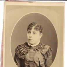 Fotografia antica: 1880 CA FOTOGRAFÍA ALBUMINA CARTE DE VISITECDV CABINET 107X160MM FOTÓGRAFO JACINTO LOZANO VALENCIA. Lote 120755139