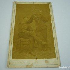 Fotografía antigua: FOTO DE DOS MILITARES A IDENTIFICAR . FOTOGRAFO JUAN HORTELANO .SIGLO XIX . 10 X 6 CM. APROX. Lote 121269727
