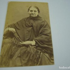 Fotografía antigua: FOTO DAMA A IDENTIFICAR . .SIGLO XIX . 10 X 6 CM. APROX. Lote 121271291