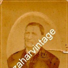 Fotografía antigua: SALAMANCA, SIGLO XIX , CDV DEL COMERCIANTE SIMON MORENO GIL,FOT.POUJALTE Y SEÑORA,64X104MM. Lote 122077287