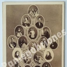 Fotografía antigua: JEAN LAURENT MADRID FAMILIA REAL ESPAÑA CDV FOTO MOSAICO REINA ISABEL II REY REALEZA. Lote 122180451