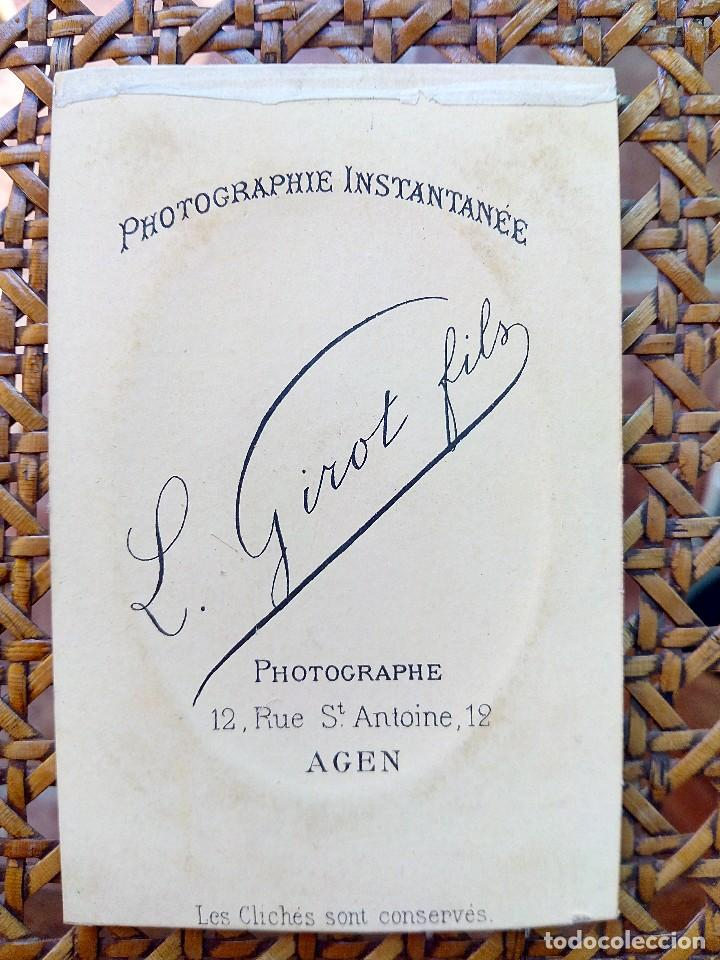 Fotografía antigua: ANTIGUA FOTOGRAFIA DE BEBE DEL SIGLO XIX FRANCESA. - Foto 2 - 122358439