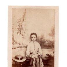 Fotografía antigua: REY ALFONSO XII.- CARTES DE VISITE. ESTUDIO FOTOGRÁFICO. RAFAEL ROCAFULL. CADIZ. Lote 122375539