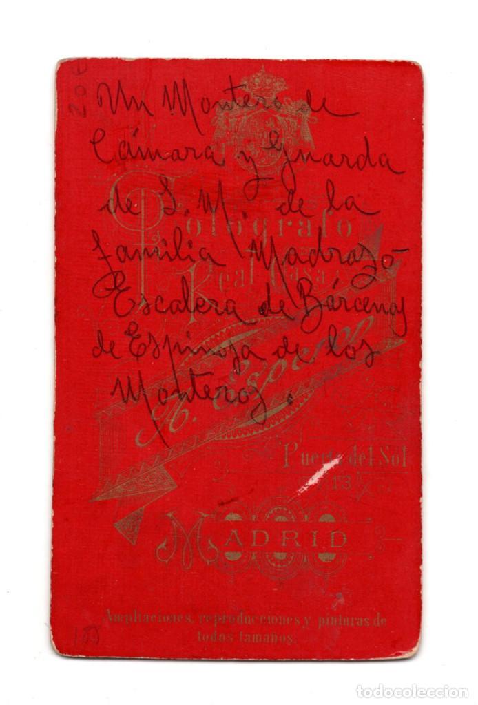 Fotografía antigua: OFICIAL CONDECORADO. CARTES DE VISITE. ESTUDIO FOTOGRÁFICO. A. ESPEROD. MADRID - Foto 2 - 122527135