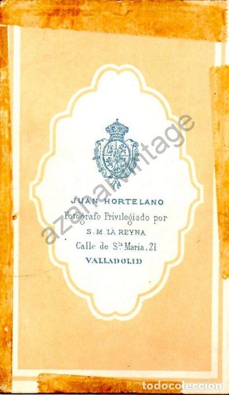 Fotografía antigua: VALLADOLID, CDV DE UNA SEÑORA VALLISOLETANA, FOT.HORTELANO, 62X105MM - Foto 2 - 122890711