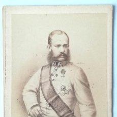 Fotografía antigua: CDV EMPERADOR FRANCISCO JOSE I DE AUSTRIA CASADO CON SISSI EMPERATRIZ - FOT. NEURDEIN. Lote 124206047