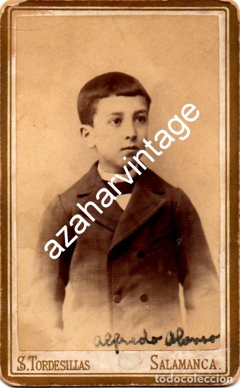SALAMANCA, SIGLO XIX, CDV DE ALFREDO ALONSO GARCIA SERRANO, FOT.TORDESILLA, 62X105MM (Fotografía Antigua - Cartes de Visite)