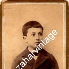 Fotografía antigua: SALAMANCA, SIGLO XIX, CDV DE ALFREDO ALONSO GARCIA SERRANO, FOT.TORDESILLA, 62X105MM. Lote 124389807