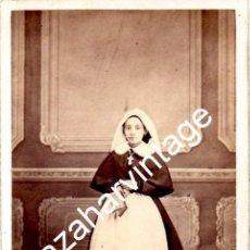 Fotografía antigua: VALLADOLID, SIGLO XIX, CDV DE JULITA ALONSO, FOT.SANCHO, 62X105MM. Lote 124390315