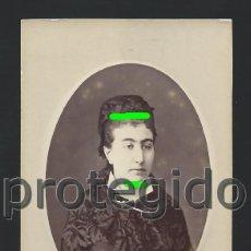 Fotografía antigua: RETRATO DE UNA DAMA. ÓVALO EN RELIEVE. ZARAGOZA. SIGLO XIX. FOTÓGRAFO JUDEZ Y COYNE. ZARAGOZA. BDLL. Lote 125014103