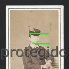 Fotografía antigua: DÑA. JOAQUINA PALAFOX. ZARAGOZA. S. XIX. CDV. FOTÓGRAFO M. JUDEZ. COSO, 33. ZARAGOZA. BDLL. Lote 125014395