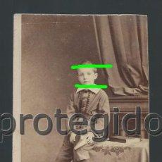 Fotografía antigua: D. JOAQUÍN CAVERO ALCIBAR. HIJO DEL CONDE DE SOBRADIEL. FOTÓGRAFO EMILE BALOSSIER. BAYONNE. BDLL. Lote 125016387