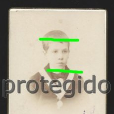 Fotografía antigua: D. RAFAEL DE VALENZUELA Y URZAIZ. 1891. L. ESCOLÁ. ZARAGOZA. BDLL. Lote 125104219
